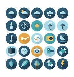 icons flat line ui weather vector image