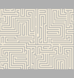 Intricacy labyrinth maze seamless pattern vector