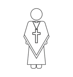 Isolated religion pope design vector