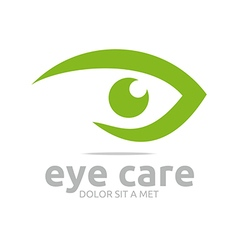 Life eyes beauty circle green design icon vector