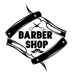 Monochrome pattern for barbershop with vector