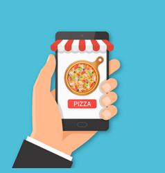 Online pizza ordering concept vector