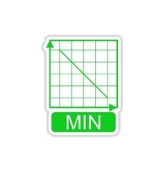 Paper sticker on white background schedule vector