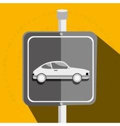 Parking lot symbol notice vector