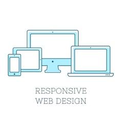 Responsive design vector image