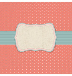 Retro pastel label vector