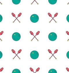 Rhythmic gymnastics pattern vector