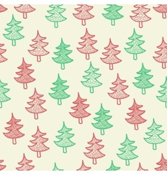 Seamless texture with Christmas trees vector image vector image
