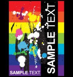 splatter document vector image vector image