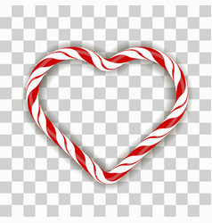 sweet striped candy heart frame vector image