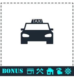 Taxi car icon flat vector