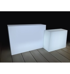 White rectangular boxes on a black background vector image