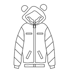 Woman hoodie icon outline style vector
