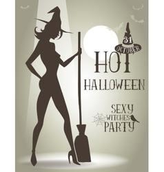 Poster for halloween party vector