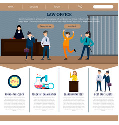 Law office web site template vector