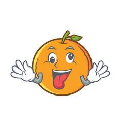 Crazy orange fruit cartoon character vector