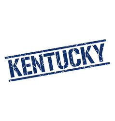 Kentucky blue square stamp vector