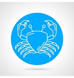 Crab blue round icon vector