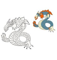 dragon sketch vector image