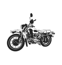 Black and white painted motorcycle vector
