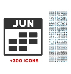 June flat icon vector