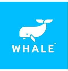 Whale logo abstract trendy flat style icon vector
