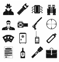 Spy simple icons vector