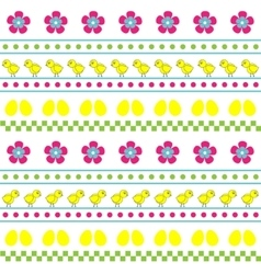 Easter seamless multicolor pattern vector