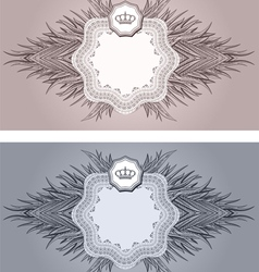 Baroque cards vector