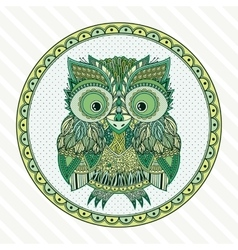 Zentangle owl  ornate vector