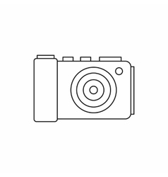 Camera icon in outline style vector