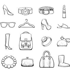 Accessories stock vector
