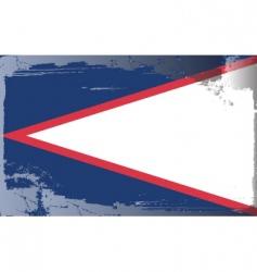 American samoa national flag vector