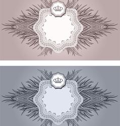 baroque cards vector image