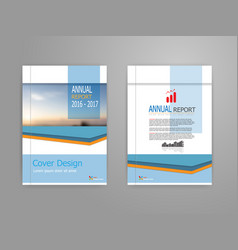 blue cover annual report brochure vector image vector image