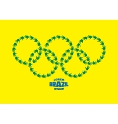 Circles with hand prints using brazil flag colors vector