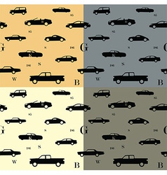 City cars seamless pattern vector