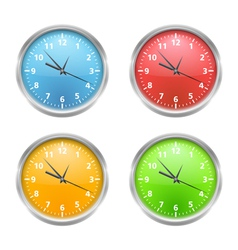 Colored Clocks vector image vector image