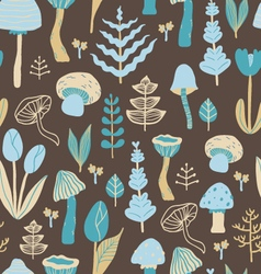 Cute florals and mushrooms vector image vector image