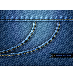 Denim side pocket background vector image