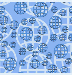 Earth globe seamless pattern abstract vector