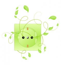 eco energy symbol vector image