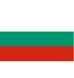 flag of bulgaria vector image vector image