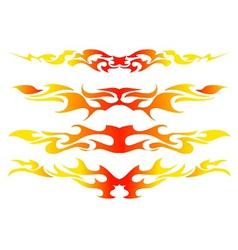 Flame Sticker vector image