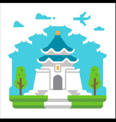 flat design chiang kai shek taipei vector image