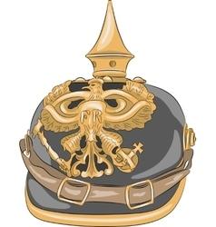 German Kaiser helmet vector image