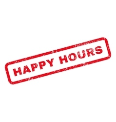 Happy hours text rubber stamp vector
