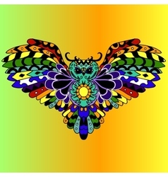 High quality colored owl for tattoo or ilustration vector image vector image