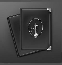 Hookah menu books vector