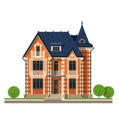 house logo design template construction vector image vector image